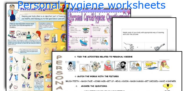 English teaching worksheets: Personal hygiene
