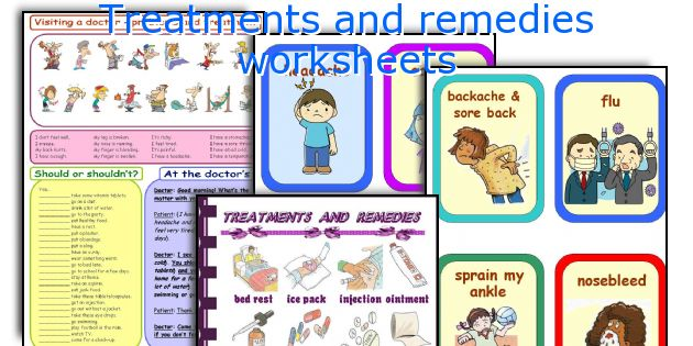 Treatments and remedies worksheets