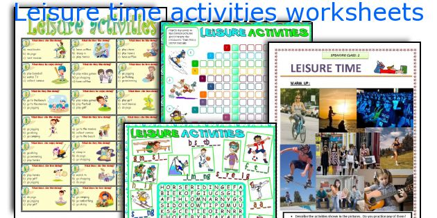 Leisure time activities worksheets