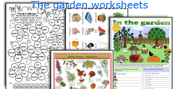 Gardening printable activities container gardening ideas for Gardening tools vocabulary