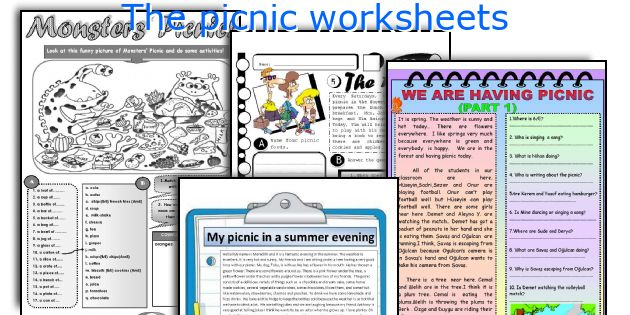 The picnic worksheets