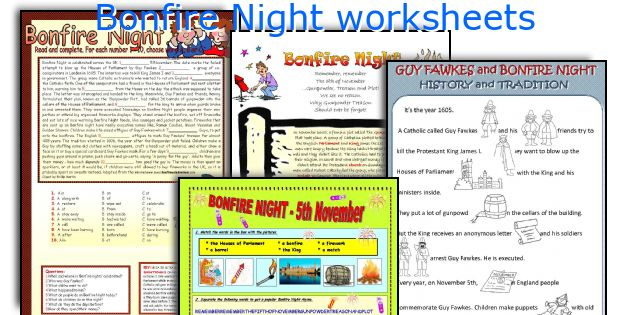 Bonfire Night worksheets