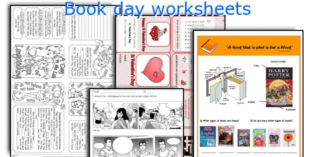 Book day worksheets