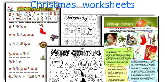 Christmas Worksheets. Worksheet. Christmas Worksheets At Mspartners.co