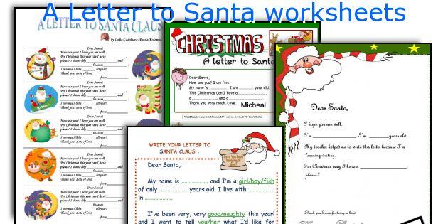 A Letter to Santa worksheets