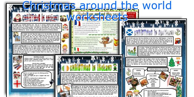 Christmas around the world worksheets