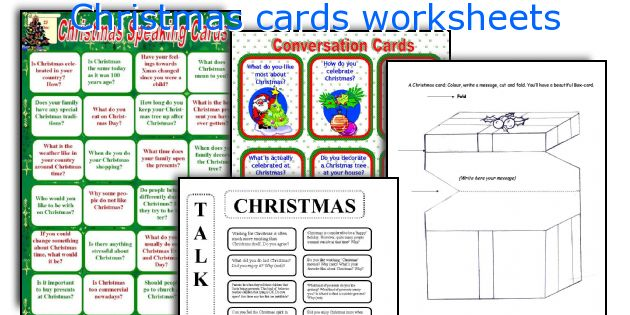 Christmas cards worksheets