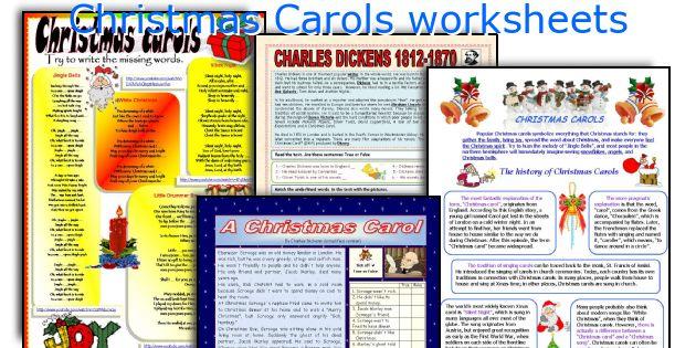 Christmas Carols worksheets