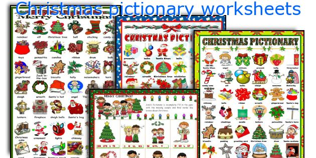 Christmas pictionary worksheets