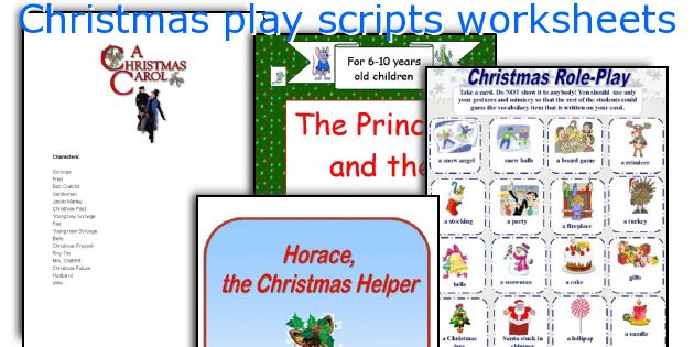 English teaching worksheets: Christmas play scripts
