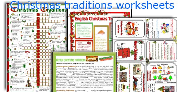Christmas traditions worksheets