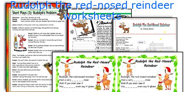 Rudolph the red-nosed reindeer worksheets