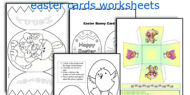 easter cards worksheets