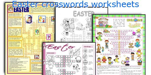 Easter crosswords worksheets