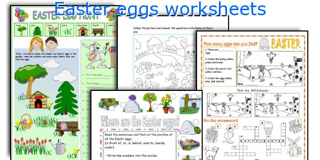 Easter eggs worksheets