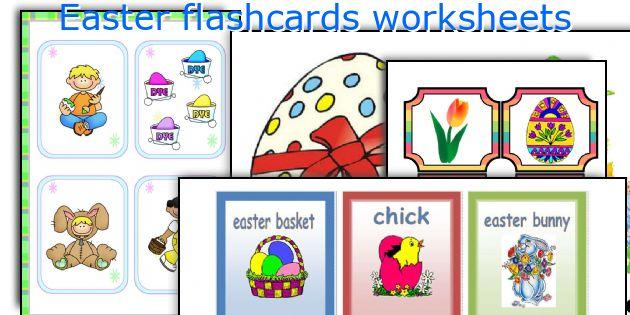 Easter flashcards worksheets