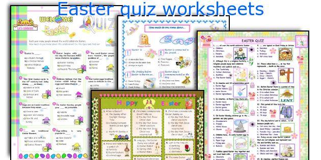 Easter quiz worksheets