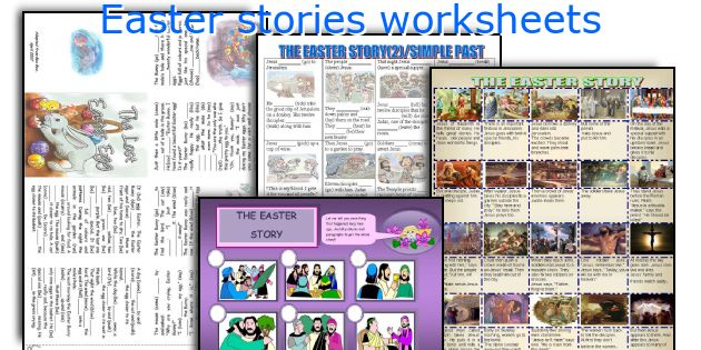 Easter stories worksheets