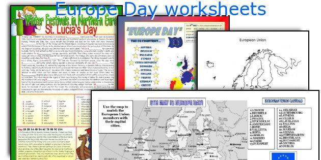 Europe Day worksheets
