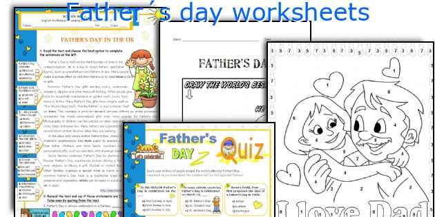 Father´s day worksheets