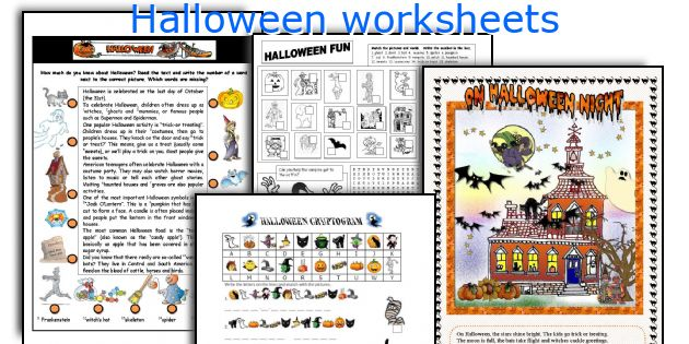 English teaching worksheets: Halloween
