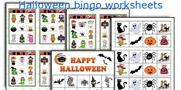 English teaching worksheets: Halloween bingo