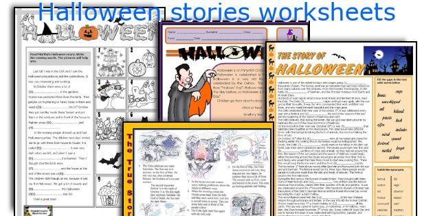 Halloween stories worksheets