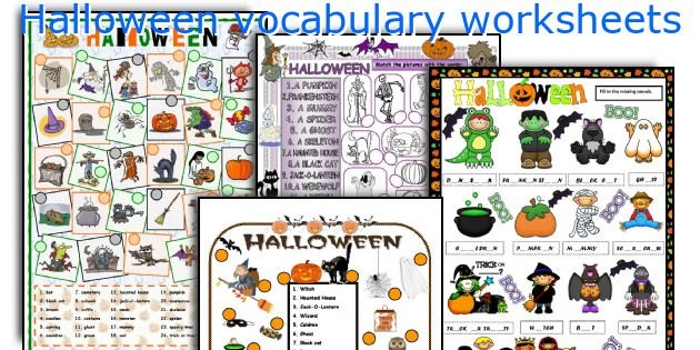 Halloween vocabulary worksheets