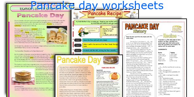 pancake day worksheets worksheets and activities for teaching pancake ...