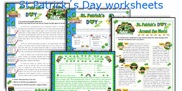St Patrick´s Day worksheets