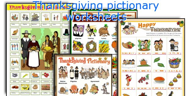 Thanksgiving pictionary worksheets