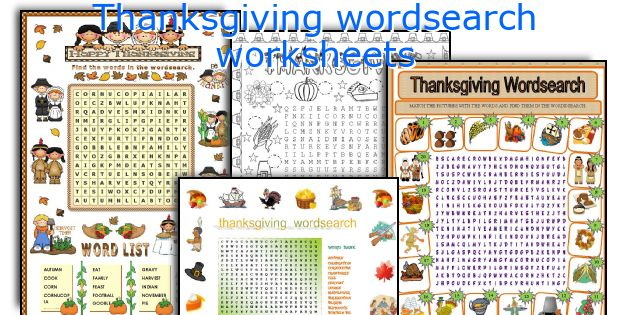 Thanksgiving wordsearch worksheets