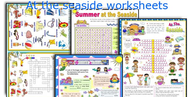 At the seaside worksheets