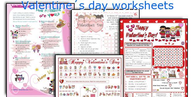 Valentine´s day worksheets