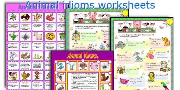 Animal idioms worksheets
