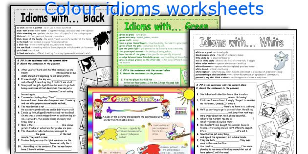 Colour Idioms Worksheets. Worksheet. Idiom Practice Worksheets At Mspartners.co