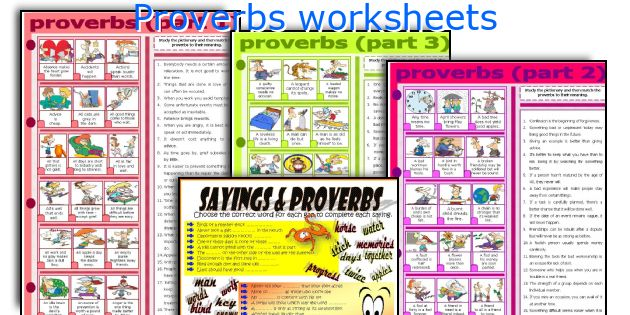 Proverbs worksheets
