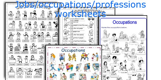 Jobs/occupations/professions worksheets