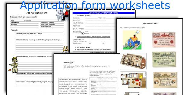 Application form worksheets