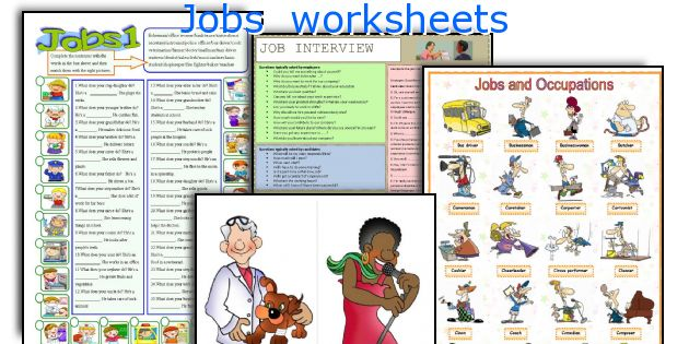 Jobs  worksheets
