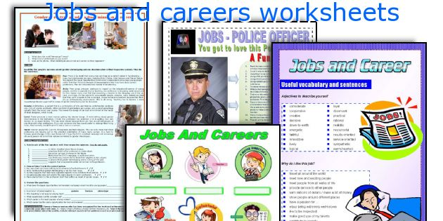 Jobs and careers worksheets