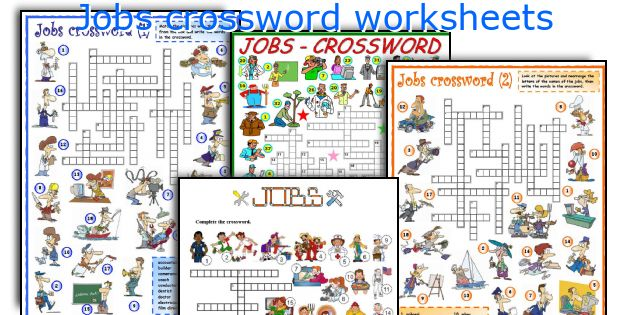Jobs crossword worksheets