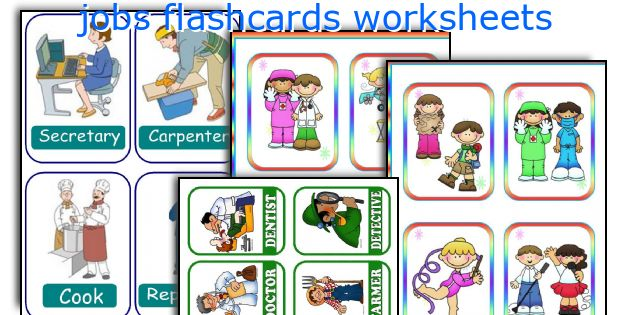 jobs flashcards worksheets