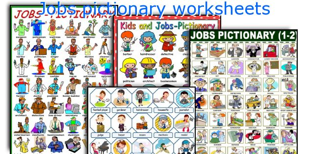 Jobs pictionary worksheets