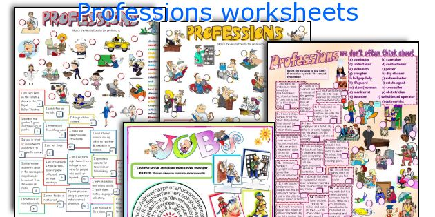 Professions worksheets