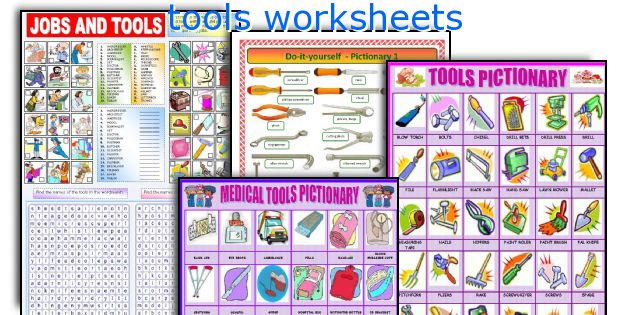 tools worksheets