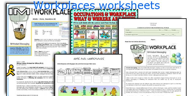 English teaching worksheets: Workplaces
