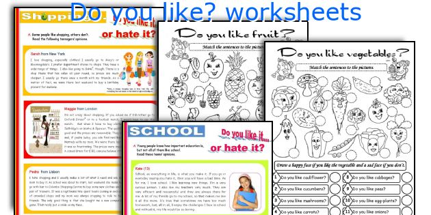do you like worksheets
