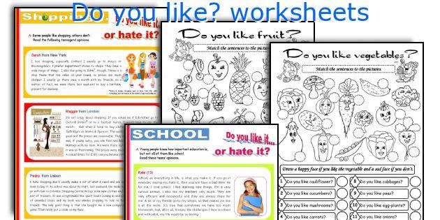 Do you like? worksheets