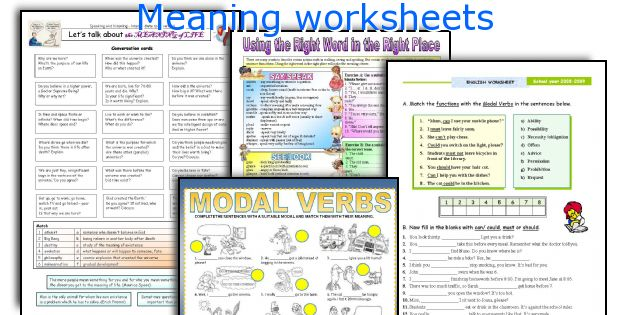 Meaning worksheets